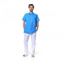 Pánská košile s krátkým zipem