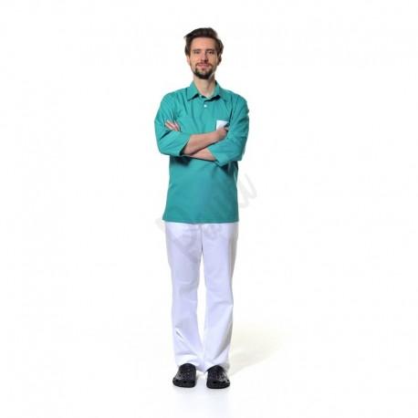 Pánská košile s tříčtvrtečním rukávem a s límečkem
