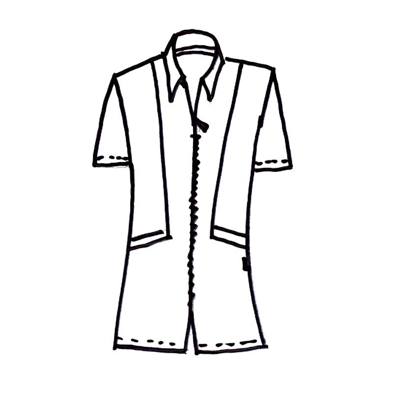 86f454a8a7d0 ... Dámské šaty na zip - nákres zepředu ...
