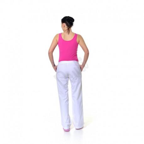 Dámské kalhoty s hladkým páskem - zezadu